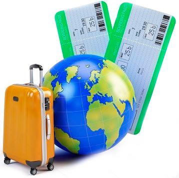 квитки,валіза